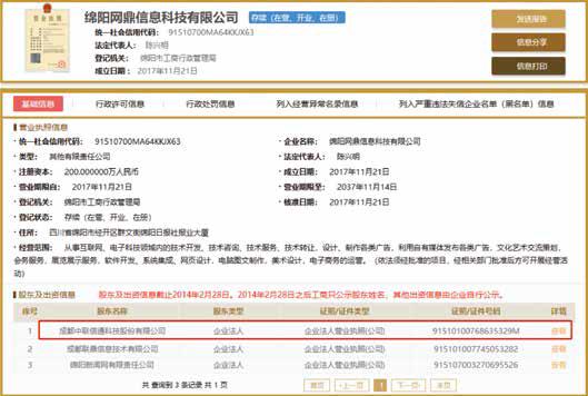 """中联信通宣称被强制""""当爹"""",起诉工商局求改""""出身证"""""""