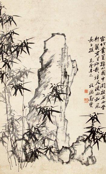 郑燮(1693-1765)竹石图纸本