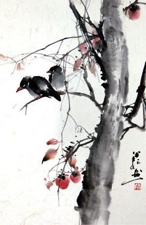 拒绝美感是荒谬的-析旅日画家袁波水墨新作